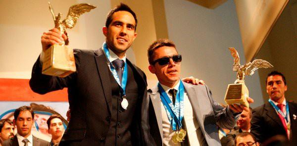 Cristian Valenzuela and Claudio Bravo