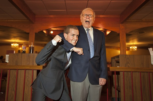 Warren Buffett's Funny Pose with a Student