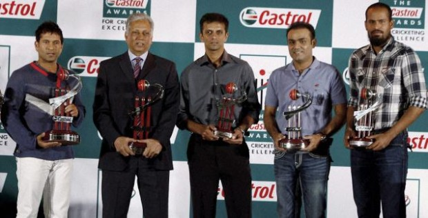 Dravid with Castrol Cricket Awrads
