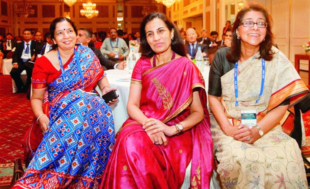 Chanda Kochhar With Shikha Sharma and Naina Lal Kidwai