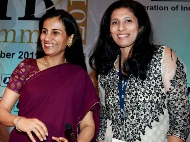 CEO ICICI Bank Chanda Kochhar and Executive Director (HR), Hindustan Unilever Leena Nair