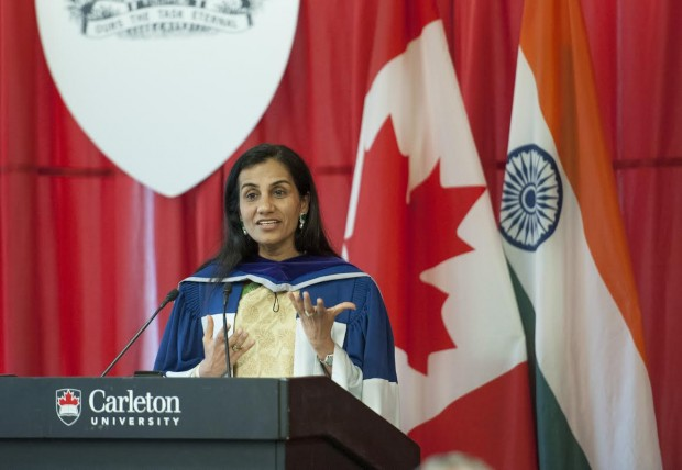 Chanda Kochhar at Carleton University