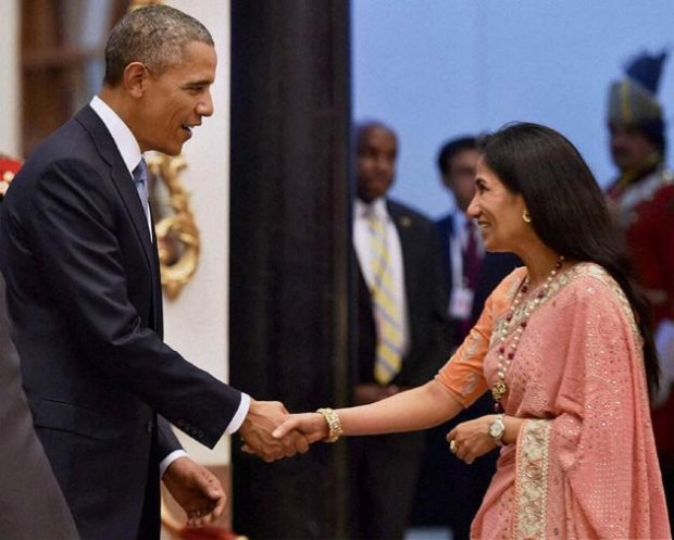 Chanda Kochhar With Barack Obama