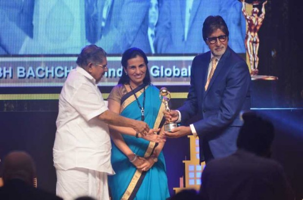 Chanda Kochhar and Amitabh Bachchan NRI of the year awards Ceremony