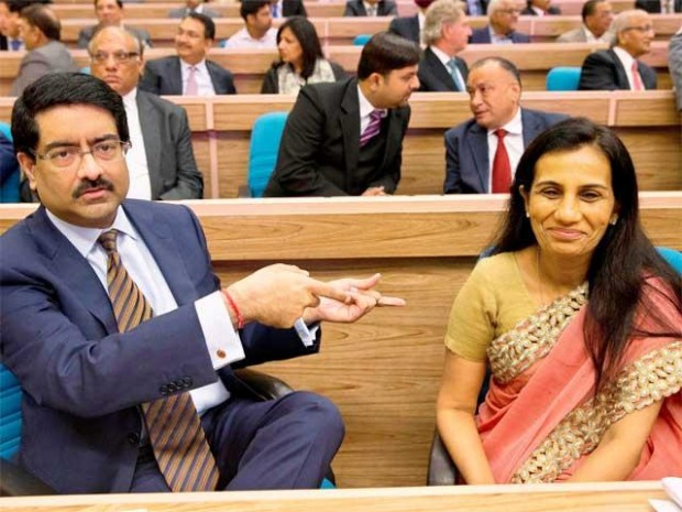 Chanda Kochhar With Kumar Mangalam Birla