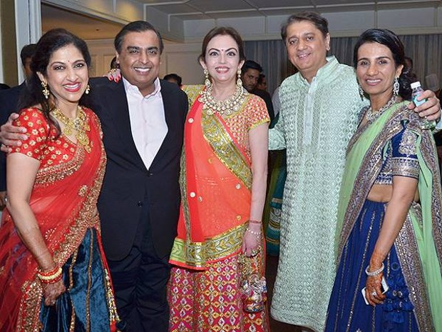 Chanda Kochhar With Mukesh and Nita Ambani