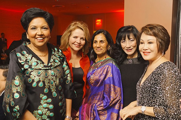 Chanda Kochhar With Indra Nooyi