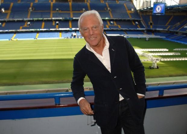 Armani at Chelsea Football Stadium
