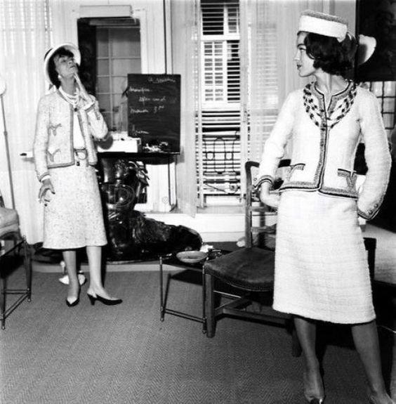 Chanel Oberving Her Model
