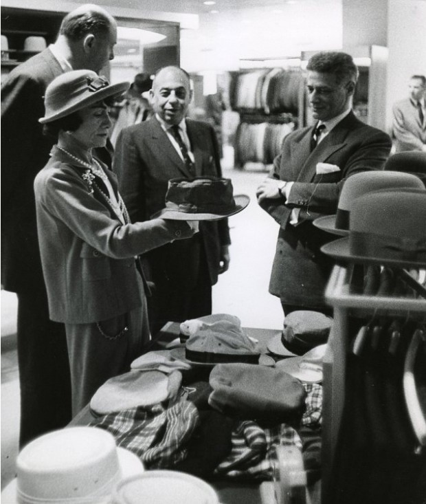 Chanel Inspecting a hat in Neiman Marcus Outpost in Dallas