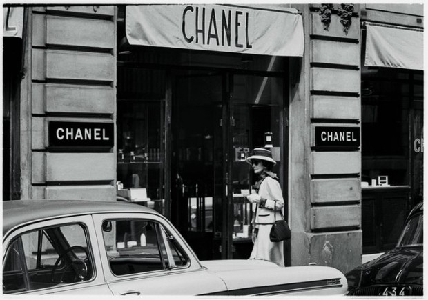 Chanel at the Chanel store in Paris