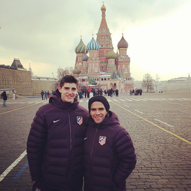 Courtois in Moscow