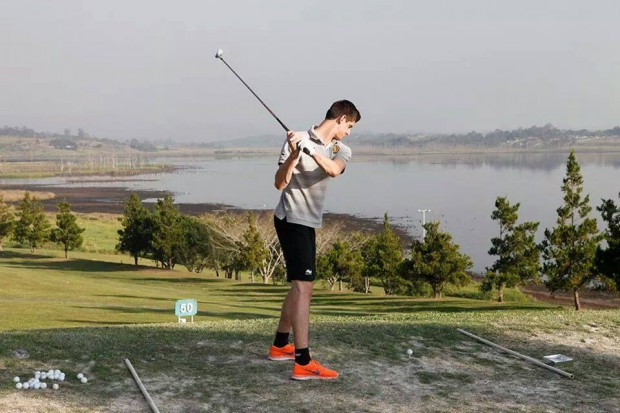Thibaut Courtois playing Golf