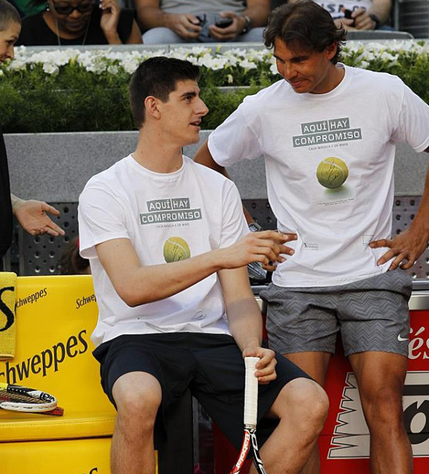 Courtois with Rafa