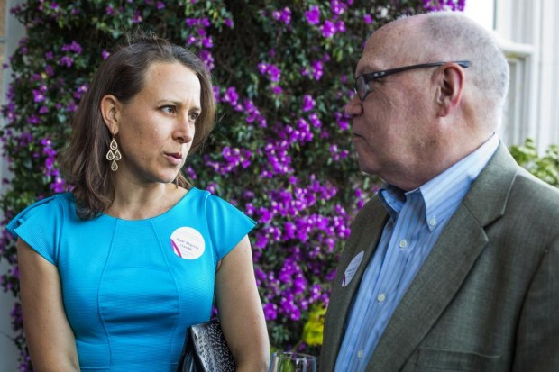 Anne Wojcicki with Sillicon Valley Business Journal Editor Cromwell Schubarth