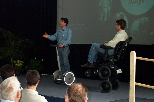 Dean Kamen giving a presentaion on his Segway invention