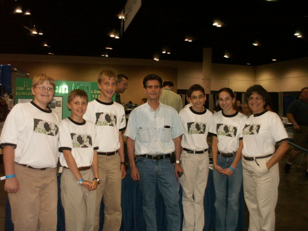 FLL Team Mu, with Dean Kamen at 2007 PTC Users conference in Tampa