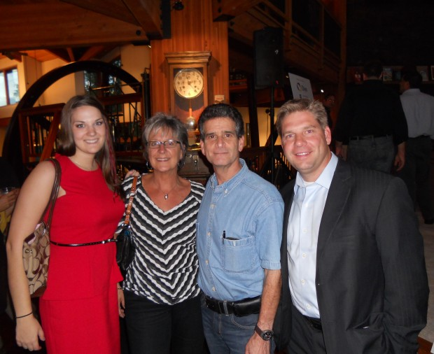 Sarah Fisher, Nora Leonard, Dean Kamen and Bill Laursen at the Evening of Discovery Event