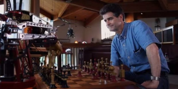 Dean Kamen Playing Chess with Robot