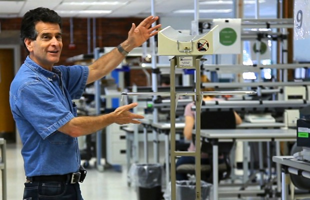 Dean Kamen with one of the dialysis machines he invented