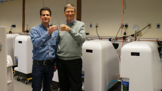Dean and Bill Gates at Water Purification System