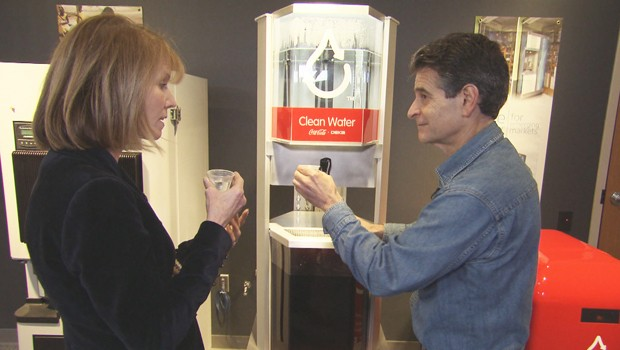 Dean Kamen demonstrates the Slingshot for correspondent Erin Moriarty