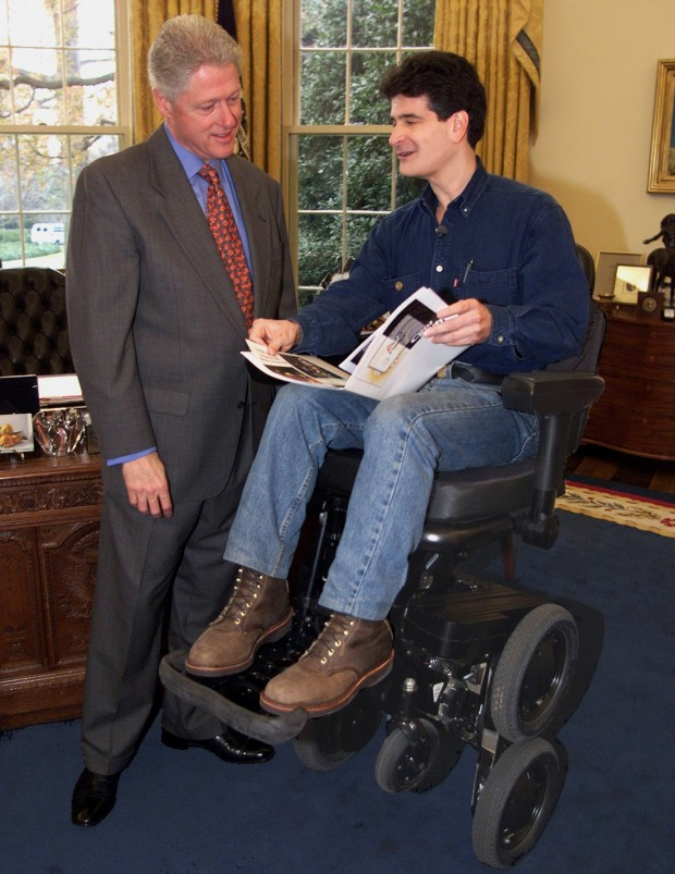 Bill Clinton with Dean Kamen