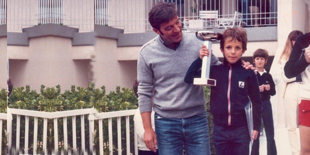 Childhood photo of Del Piero