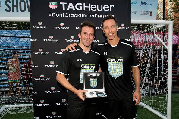 Del Piero with Steve Nash