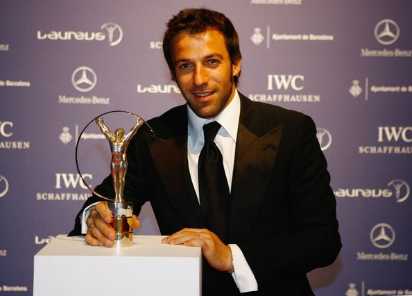 Del Piero with 2007 Laureus World Sports Award
