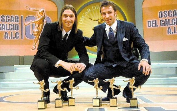 Del Piero and Zlatan Ibrahimovic