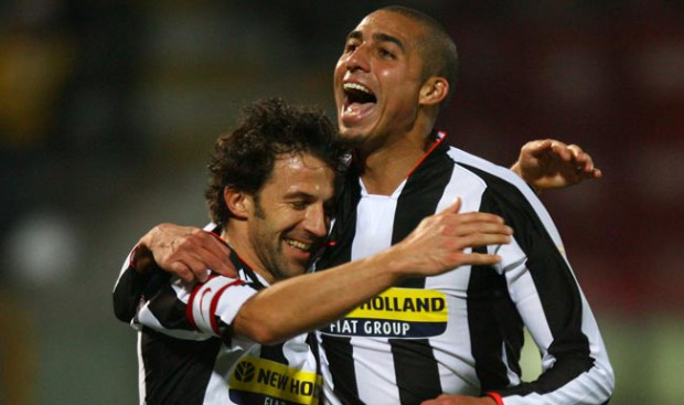 del piero celebrating with trezeguet