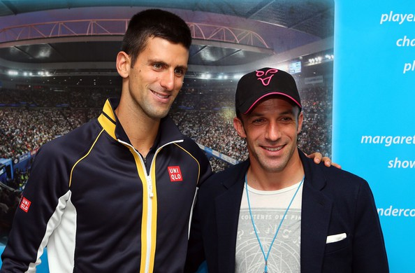 Del Piero with Novak Djokovic