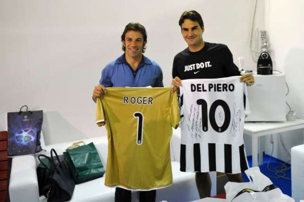 Roger Federer and Alessandro Del Piero