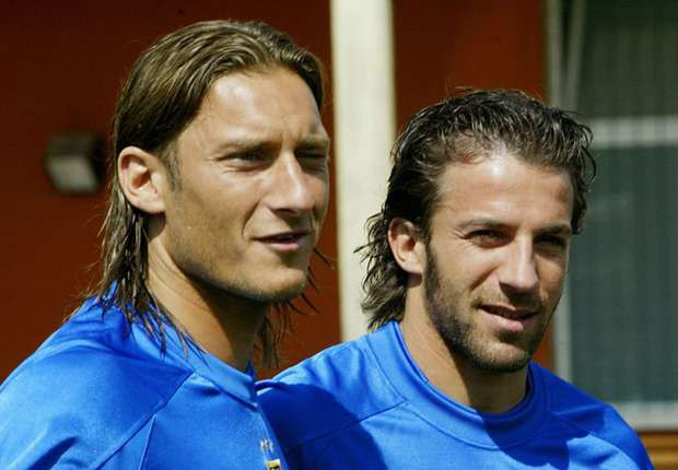 Del Piero and Totti