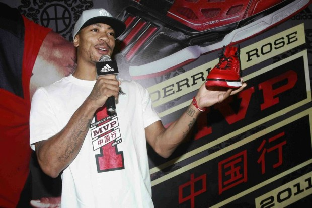 Derrick Rose Promoting Adidas Shoe in His China Tour
