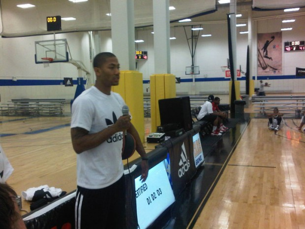 Derrick Answering the questions asked by Campers