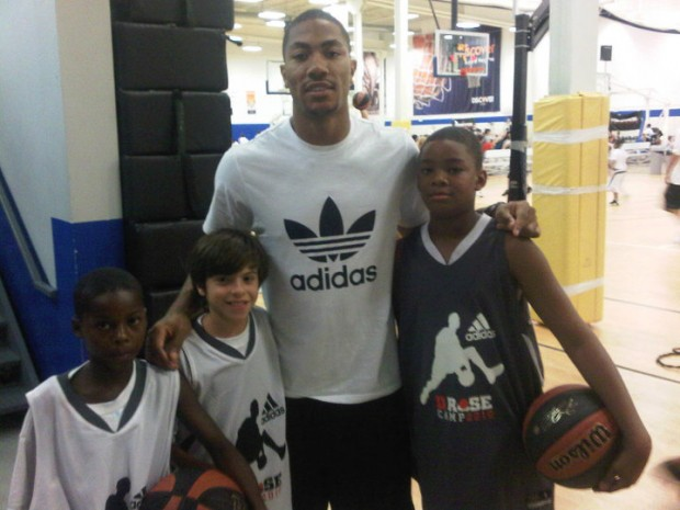 Derrick Rose with Some Campers