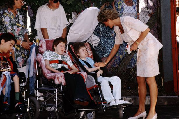 Princess Diana with handicapped children