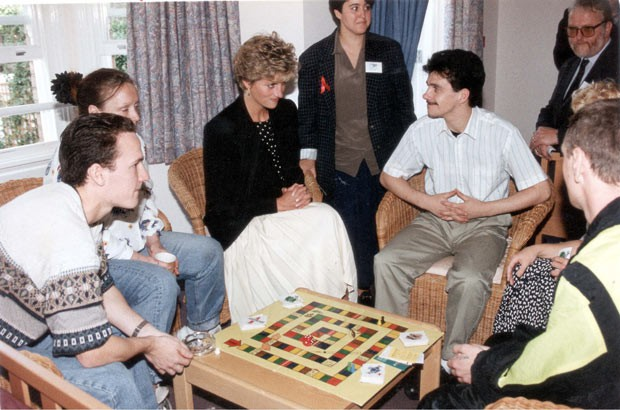 Diana visits The Turning Point, a project in London for HIV And AIDS sufferers