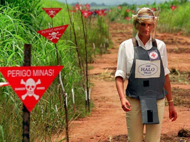 Princess during her international campaign to ban landmines