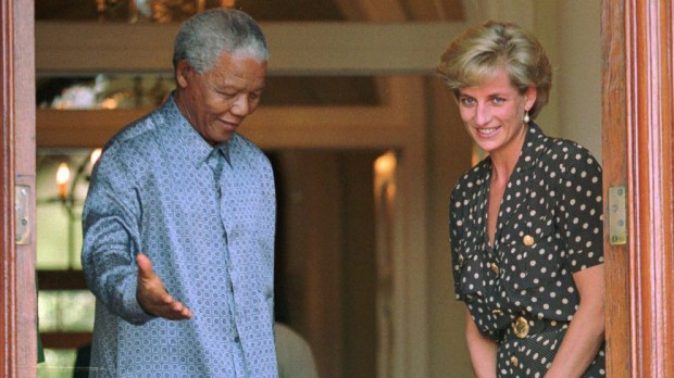 Princess Diana with the Nelson Mandela