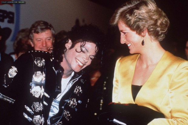 Michael Jackson with Princess Diana