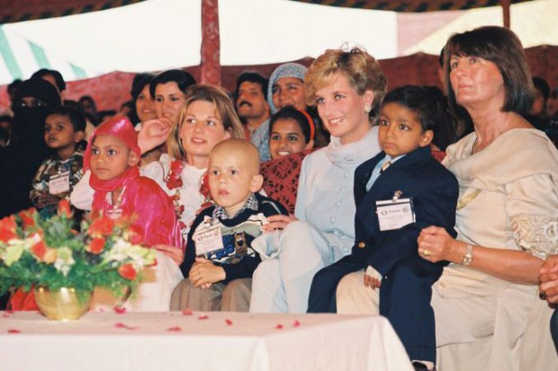 Princess Diana at Shaukat Khanum Memorial Hospital for Cancer in Pakistan