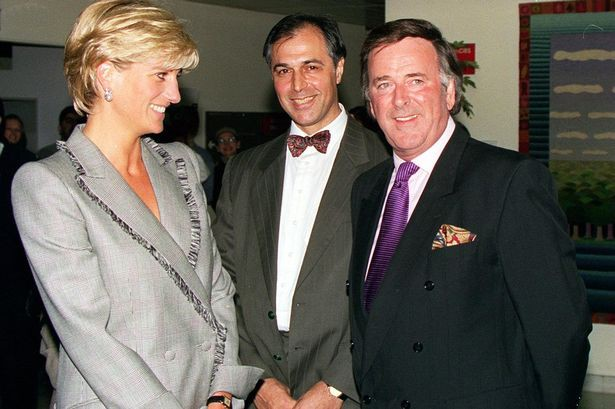Princess Diana meets Terry Wogan and PICU founder Dr Parviz Habibi