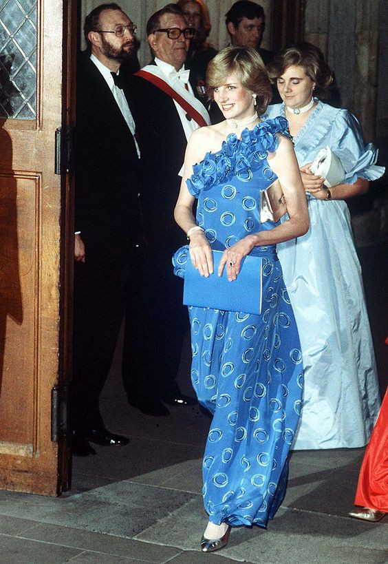 Princess Diana At The Guildhall In London For A Fashion Show Raising Funds For Birthright