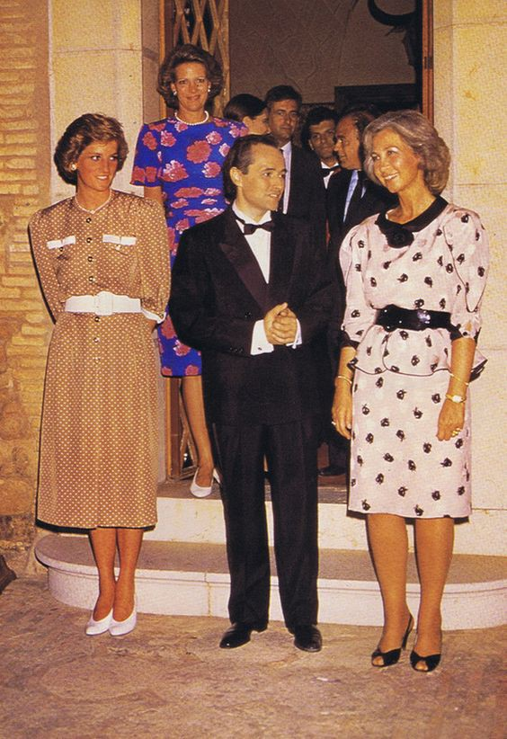Princess Diana with Queen Sofia of Spain, and Queen Anne Marie of Greece