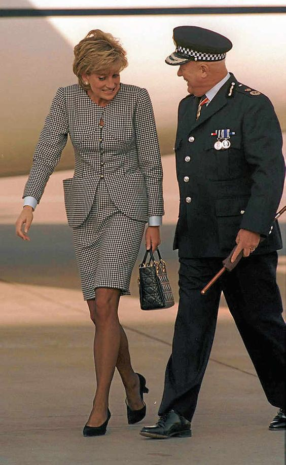 Princess Diana with Sir Ronald Hadfield