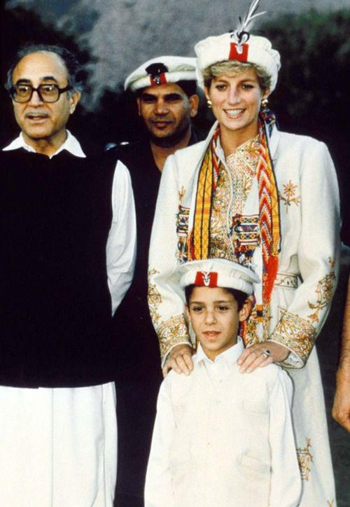 Diana during her visit to Pakistan