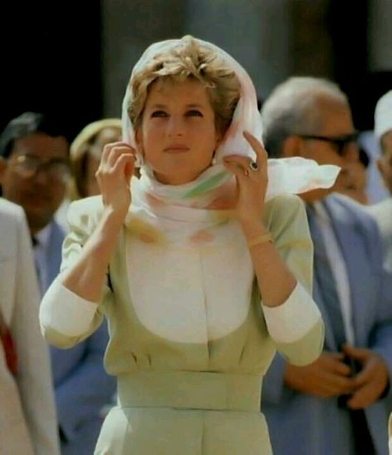 Diana during her visit to Egypt